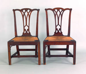 Pair of Pennsylvania Chippendale mahogany dining chairs ca 1780