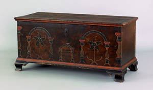 Berks County Pennsylvania painted dower chest dated 1804
