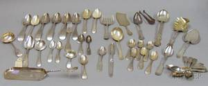 Approximately Forty Pieces of Assorted Sterling Silver and Coin Silver Flatware