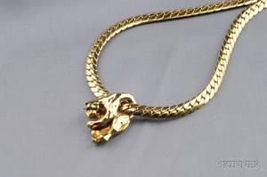 18kt Gold Panther Pendant Necklace Cartier