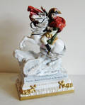 German porcelain figure of Napoleon on horseback