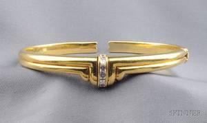 18kt Gold and Diamond Bracelet Bulgari