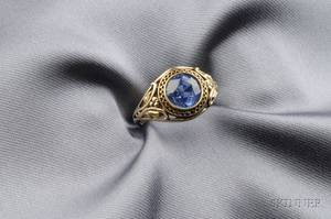 14kt Gold and Sapphire Ring Bitterman Bros
