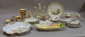 Group of Assorted Mostly Continental Painted Tableware