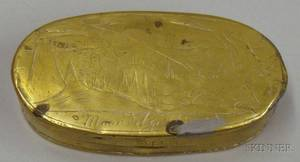 Dutch 18th Century Brass Tobacco Box