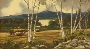 Framed Oil on Canvas Landscape by Giragos Der Garabedian American 18921980