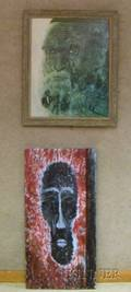 Lot of Two Abstract Portrait Works