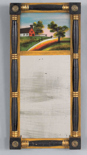 Sheraton painted mirror ca 1835