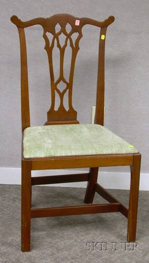 Country Chippendale Cherry Side Chair