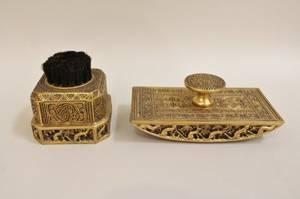 Gilt Bronze Pen Wipe and Blotter