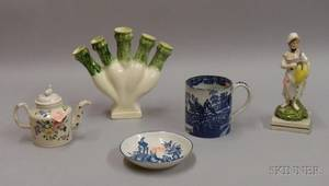 Five Assorted English Pottery Items