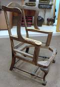 Chippendalestyle Carved Walnut Wing Chair