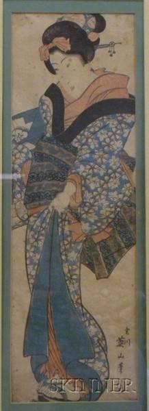 Eizan Courtesan in Elegant Kimono