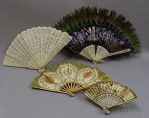 Group of Four Oriental Handfans