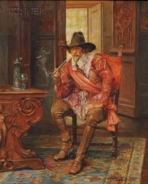 Alex de Andreis British 18801929 Cavalier