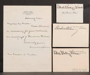 Wilson Woodrow  18561924  Wilson Edith Bolling 18721961