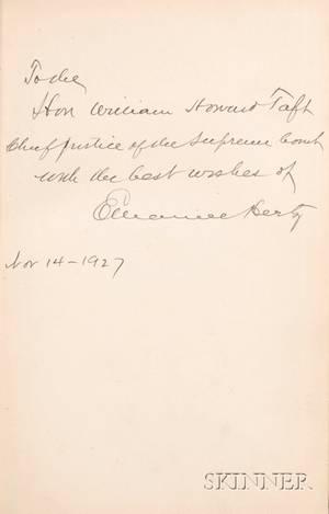 Taft William Howard his Copy Hertz Emanuel 1870  1940