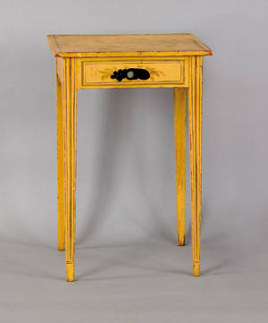 New England painted pine stand earlymid 19th c