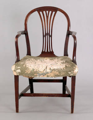 George III mahogany armchair ca 1785