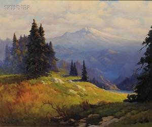 Robert William Wood American 18891979 View of Mt Rainier