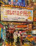 Philip Lawrence Sherrod American b 1935 Lot of Two Works Blond Fire