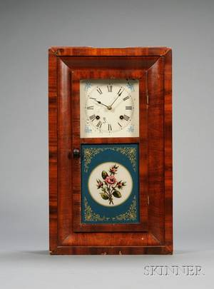 Mahogany Miniature Ogee Clock by New Haven Clock Company
