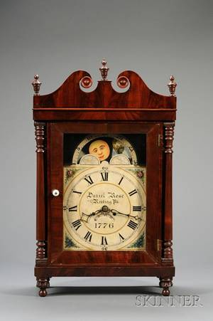 Mahogany Bracket Clock by Daniel Rose