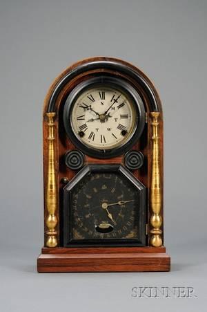 Italian No 2 Rosewood Calendar Clock by Welch Spring  Company