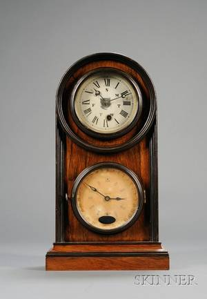 Rosewood Calendar Clock by Welch Spring  Company