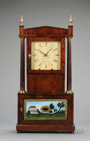 Mahogany Shelf Clock by Olmstead  Barnes