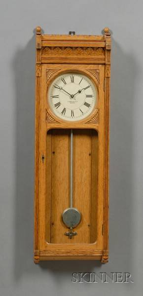 E Howard  Company No 58 Oak Wall Clock