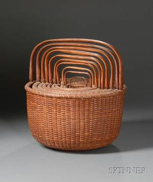 Nesting Set of Ten Nantucket Baskets