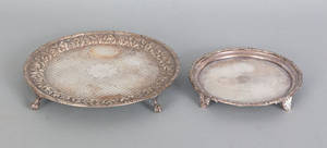 Two Baltimore repousse silver salvers mid 19th c