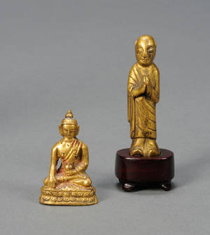 Two Giltbronze Buddhist Images
