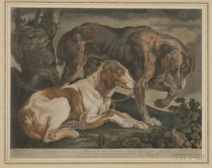 Lot of Two Dog Prints After Sir Edwin Henry Landseer British 18021873 Waldmann Portrait of a Dachshund