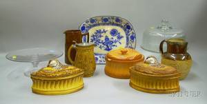 Group of Assorted Ceramic and Glass Table Items