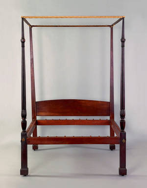 Federal mahogany tall post bed ca 1795