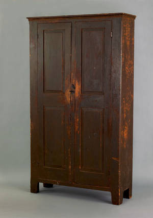 Pennsylvania painted pine wall cupboard mid 19th c