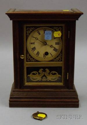 Mahogany Cottage Clock by Welch Spring and Company