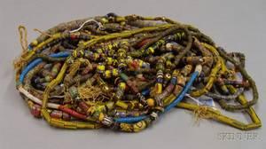 Approximately Eighteen Strands of Venetian and MillefioreTrade Beads