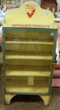 Bruce Aiders Dependable Products Painted Metal Retail Display Cabinet