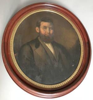 Oil on panel portrait of a gentleman