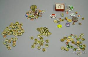 Collection of Mostly Early 20th Century Celluloid Pinback Buttons