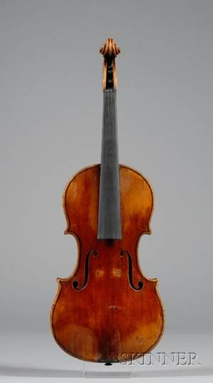 Italian Violin c 1800 Possibly a Member of the Guadagnini Family