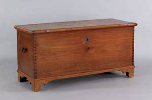 Pennsylvania walnut blanket chest ca 1800