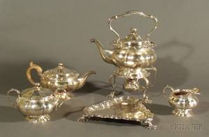 Five Piece Assembled English Silver Tea Service