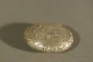 Continental Silver Snuff Box