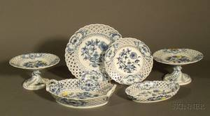 Large Group of Blue Onion Pattern Porcelain Dinnerware