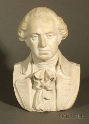 White Marble Bust of George Washington
