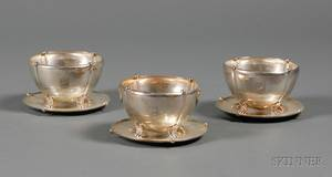 Set of Twelve Richard Dimes Company Sterling Jensenstyle Consomme Cups